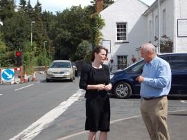 Kirsty and Cllr John Morris - Glangrwyney Traffic Lights