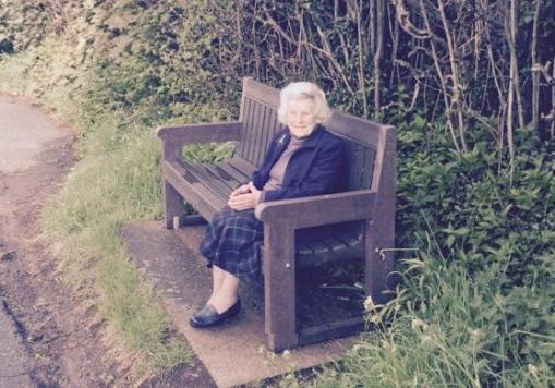 Bench on Bellfountain Road