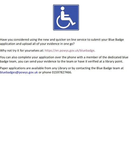 Blue Badge Poster