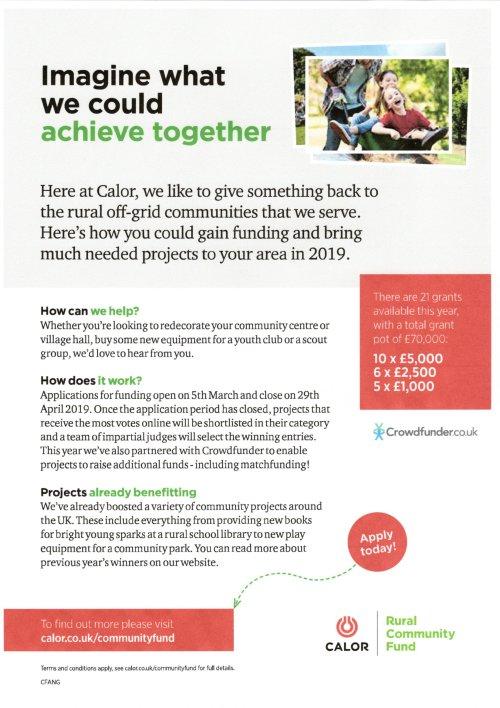 Calor Community Grant Poster