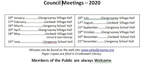 Meetings - 2020